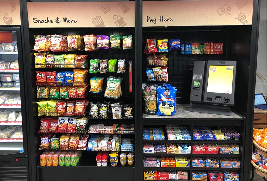 River City vending machines and snacks